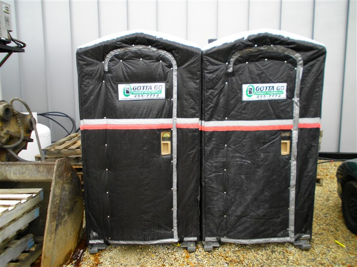 Cole's Covers on Portable Toilets.